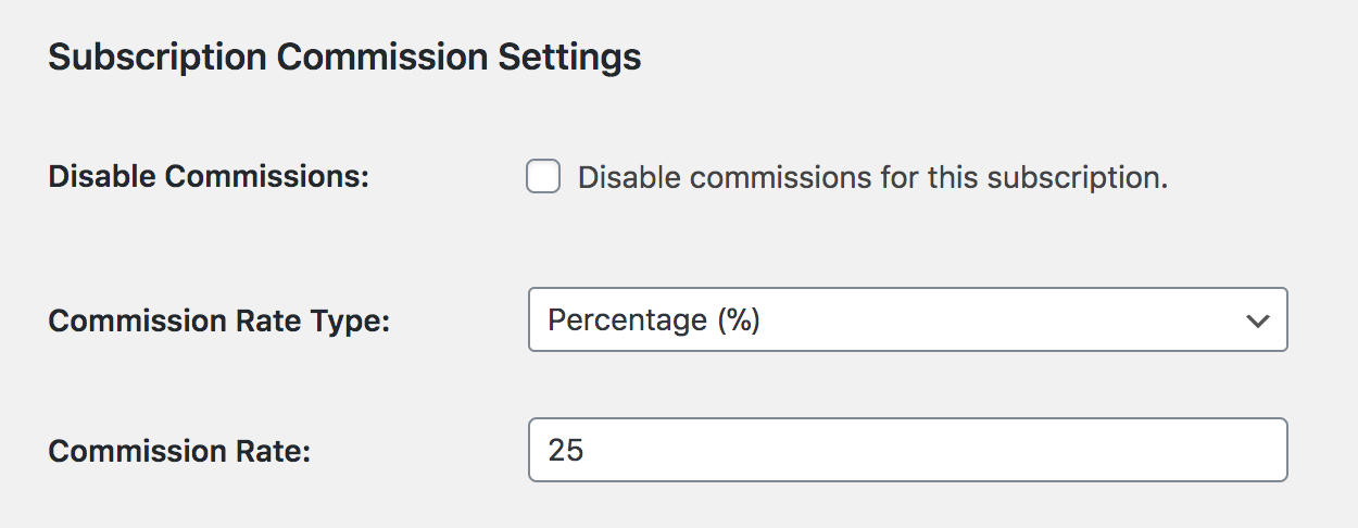 Membership level custom commission rates in Paid Memberships Pro.