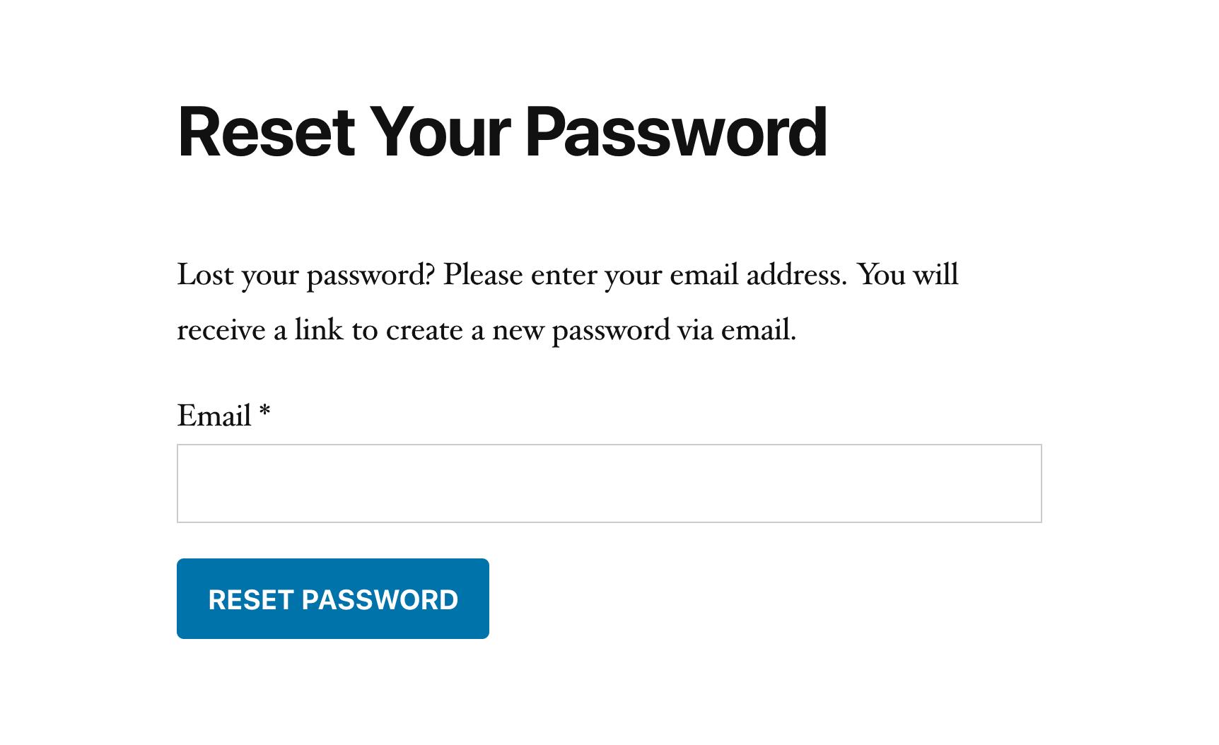 SliceWP lost password form.