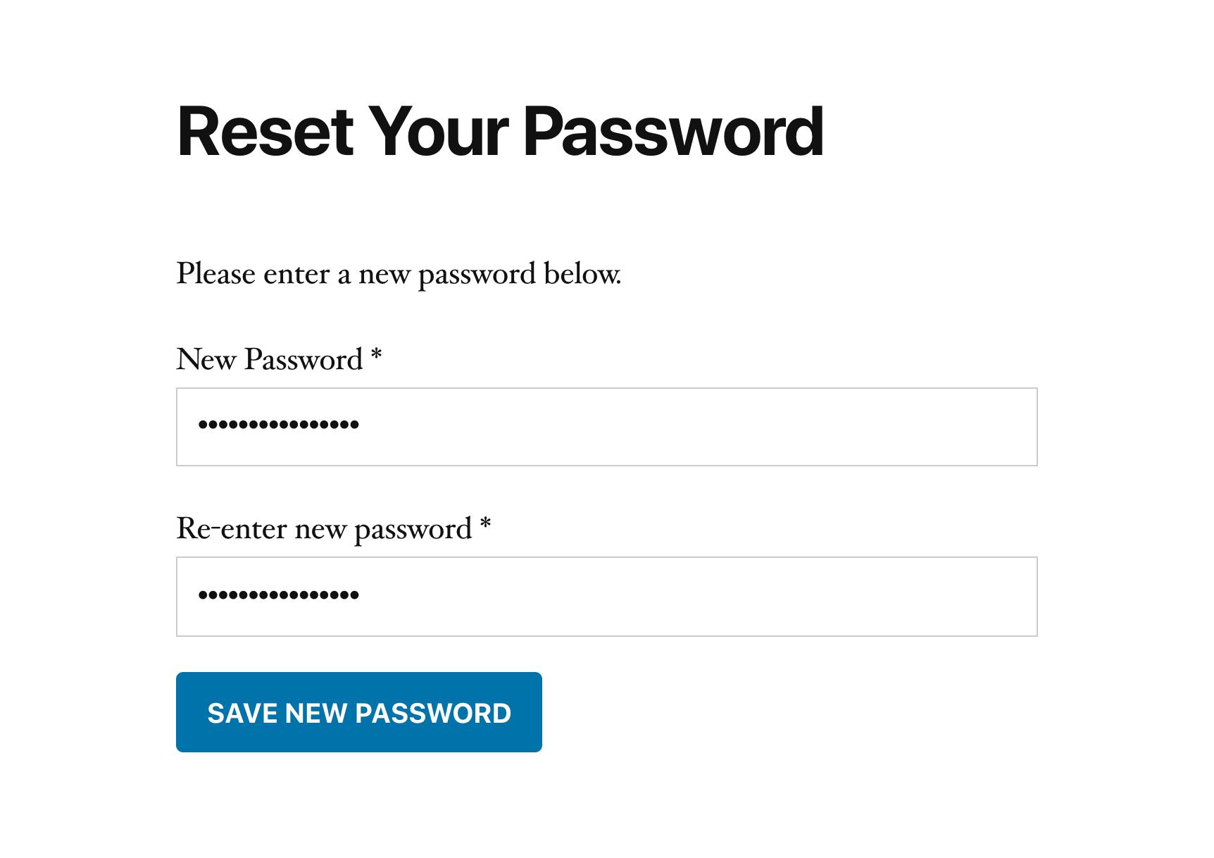 SliceWP reset password form.